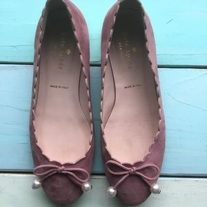kate spade Shoes - Kate Spade Murray Scalloped Flats Vintage Rose 5